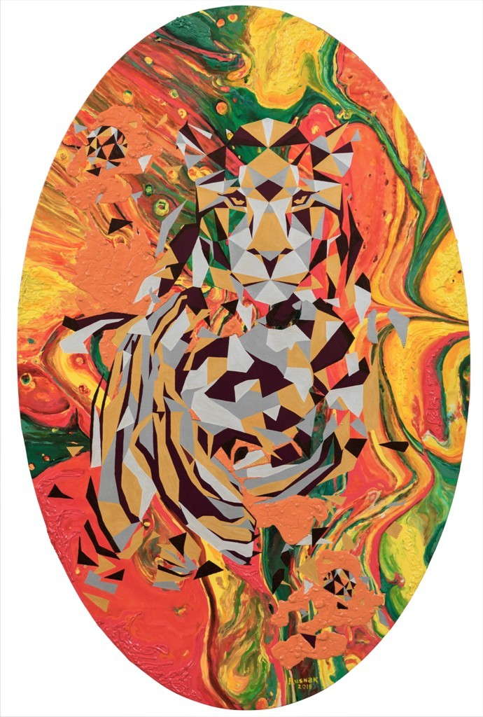 Fiery_Lioness 2018 Canvas and acrylic_ 170x240